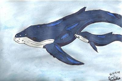 Humpback Whale Mixed Media - Mama Whale by Emily Victoria