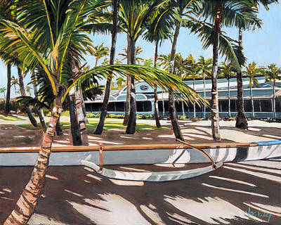 Outrigger Painting - Mama's Fish House by Stacy Vosberg