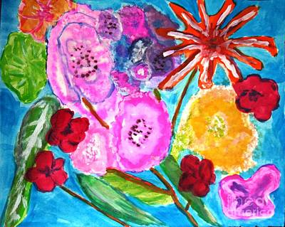 Painting - Mamas Flowers by Victoria Hasenauer
