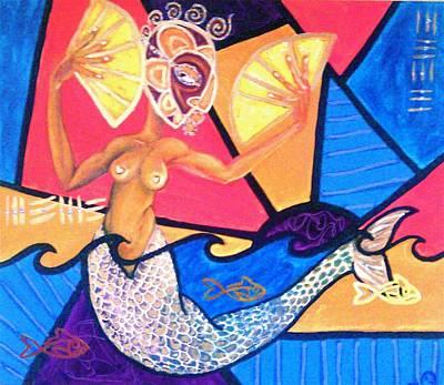 Oshun Painting - Mami Wata by Malik Seneferu
