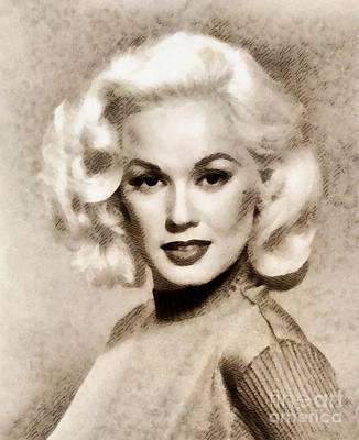 Mamie Van Doren, Vintage Actress And Pinup Art Print