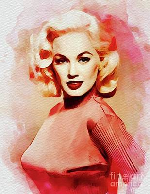 Royalty-Free and Rights-Managed Images - Mamie Van Doren, Vintage Movie Star by Esoterica Art Agency