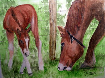 Painting - Mamma And Her Baby by Carol Grimes