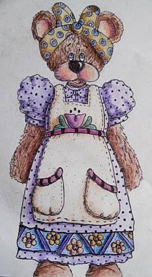 Drawing - Mamma Bear by Megan Walsh