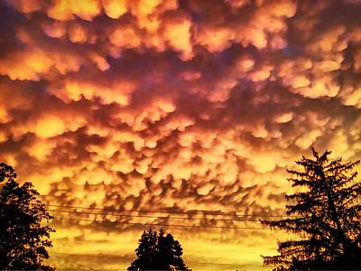 Photograph - Mammatus Clouds by Chris Montcalmo