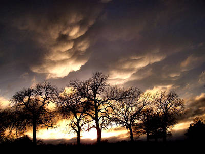 Mammatus Photograph - Mammatus Clouds by Karen Scovill