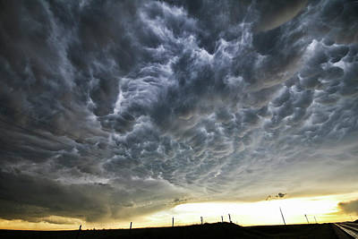 Photograph - Mammatus Over Nebraska by Ryan Crouse