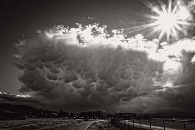 Photograph - Mammatus Storm Cloud by Mick Anderson