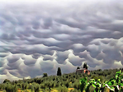 Photograph - Mammatus Storm Clouds Over Paciano Italy by Dorothy Berry-Lound