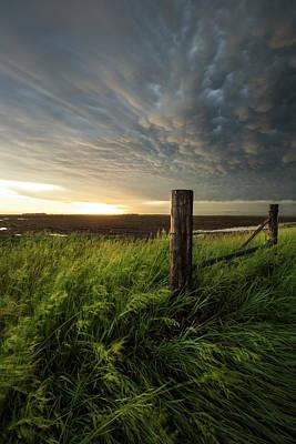 Photograph - Mammatus Sunset by Aaron J Groen