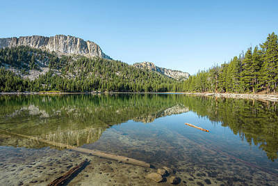 Photograph - Mammoth Crest Reflecting In Mccloud Lake by Alexander Kunz