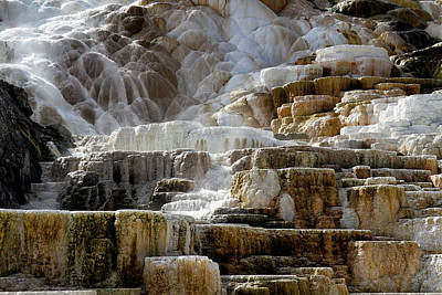Photograph - Mammoth Hot Springs Abstract by Shirley Mitchell