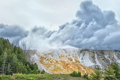 Photograph - Mammoth Hot Springs by CR Courson
