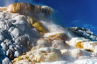 Photograph - Mammoth Hot Springs by Gary Lengyel