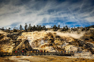 Photograph - Mammoth Hot Springs by Jon Burch Photography