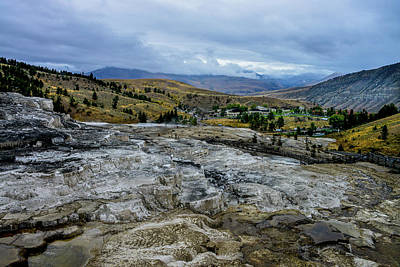 Photograph - Mammoth Hot Springs Lodge And Terraces, Yellowstone by Marilyn Burton