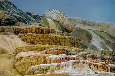 Photograph - Mammoth Hot Springs, Palette Springs, In Yellowstone by Marilyn Burton
