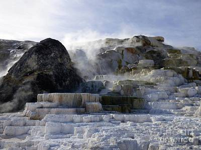Photograph - Mammoth Hot Springs Terraces by Jean Wright