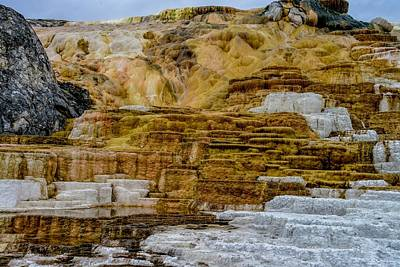 Photograph - Mammoth Hot Springs, Yellowstone by Marilyn Burton