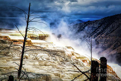 Photograph - Mammoth Hot Springs In Yellowstone by Bruce Block