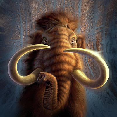 Mammoth Digital Art - Mammoth by Jerry LoFaro