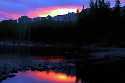 Digital Art - Mammoth Lakes Sunset  by Chris LeBoutillier