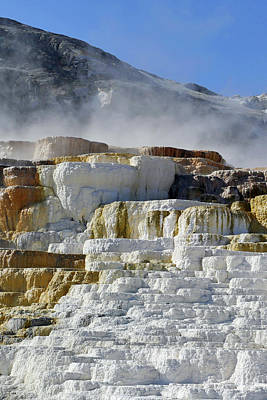 Photograph - Mammoth Springs, Upper Terrace 27 by Jeff Brunton