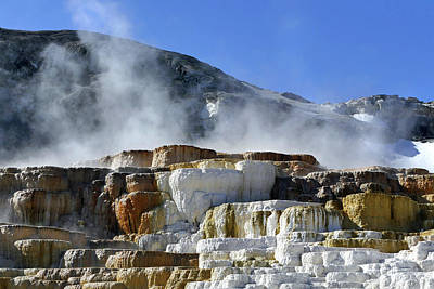 Photograph - Mammoth Springs, Upper Terrace 28 by Jeff Brunton
