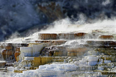 Photograph - Mammoth Springs, Upper Terrace 41 by Jeff Brunton
