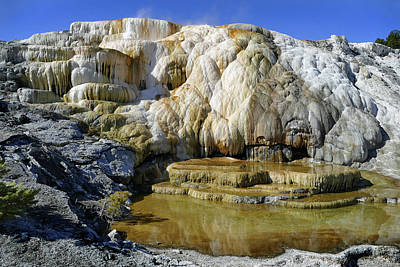 Photograph - Mammoth Springs, Upper Terrace 48 by Jeff Brunton