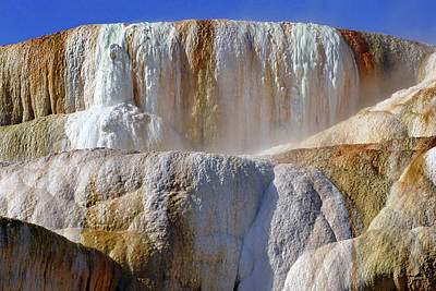 Photograph - Mammoth Springs, Upper Terrace 51 by Jeff Brunton