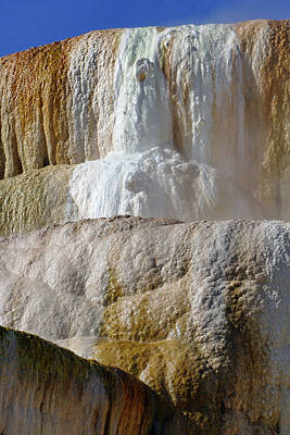 Photograph - Mammoth Springs, Upper Terrace 58 by Jeff Brunton