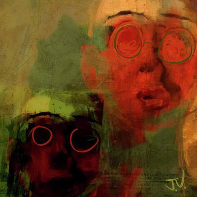 Digital Art - Man And Best Friend by Jim Vance