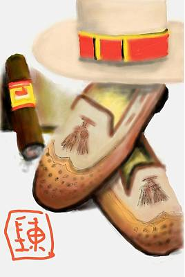 Digital Art - Man And Cigars by Debbi Saccomanno Chan