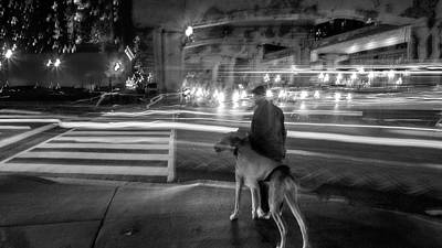 Photograph - Man And His Dog by David Pantuso
