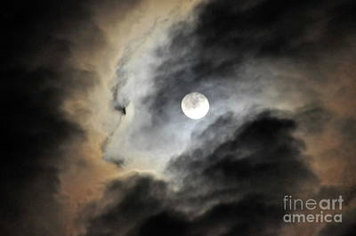 Surrealistic Photograph - Man And Moon by Cindy Lee Longhini