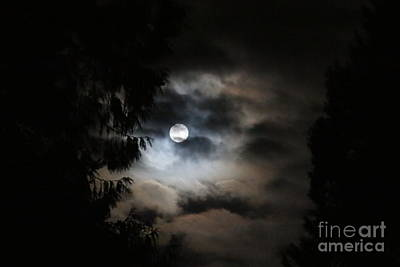 Photograph - Man And The Moon by Debra Kaye McKrill