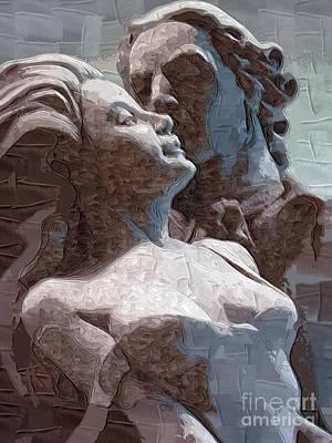 Man And Woman In Love Art Print by Deborah Selib-Haig DMacq