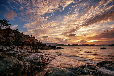 Photograph - Man At Sunrise by Roy Cruz