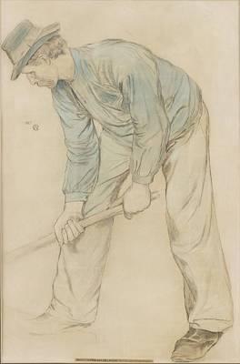 Man At Work Art Print by Carl Wilhelmson