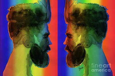 Man Beard Mirror Spectrum  Original