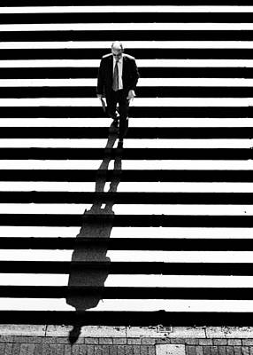 Photograph - Man Bethesda Steps by Dave Beckerman