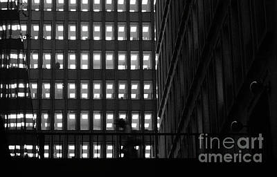 Photograph - Man Between Buildings by Jim Corwin