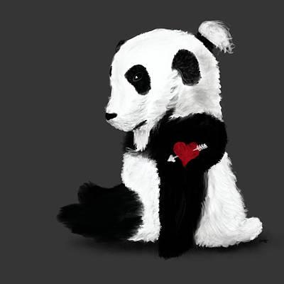 Hair Bun Mixed Media - Man Bun Panda by Dan Pearce
