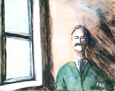 Man By The Window Art Print by Van Winslow
