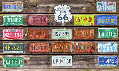 Photograph - Man Cave License Plates by Marion Johnson