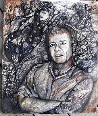Painting - Man Commission by Anne-D Mejaki - Art About You productions