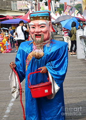 Photograph - Man Disguised As Chinese God Of Wealth by Yali Shi