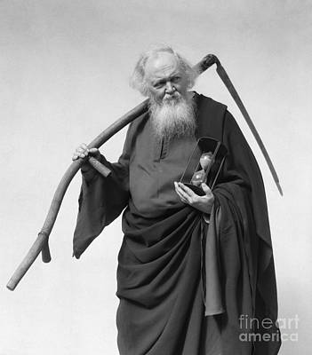 Father Time Photograph - Man Dressed As Death, C.1930s by H. Armstrong Roberts/ClassicStock