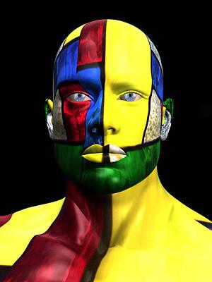 Photograph - Studio Man Render 07 by Carlos Diaz